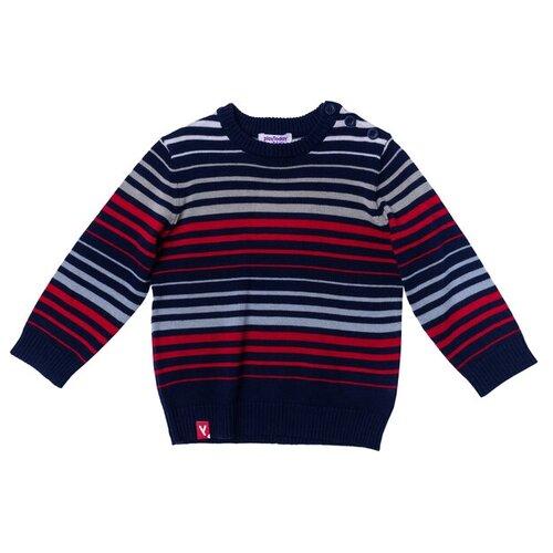 Джемпер playToday 177005 размер 92, темно-синий/красный/белый платье для девочки lucky child романтик цвет белый красный темно синий 18 61 размер 86 92 2 года