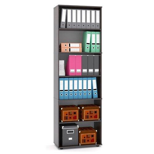 Шкаф архивный СОКОЛ ШУ-40 68.2x37.2x215.8 см венге/серый