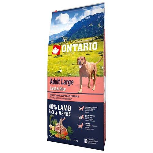 Сухой корм для собак Ontario ягненок, индейка 12 кг (для крупных пород) сухой корм для собак barking heads ягненок 12 кг для крупных пород