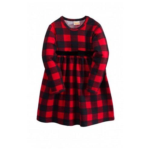 Платье Веселый Малыш размер 86, красный