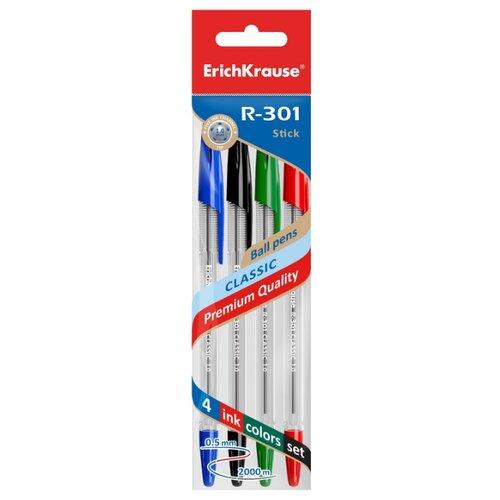 Купить ErichKrause набор шариковых ручек R-301 Classic Stick, 1.0 мм (44593), разноцветный цвет чернил, Ручки