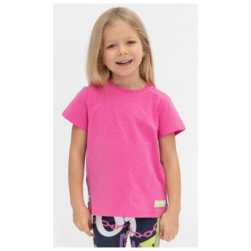 Купить Футболка Button Blue размер 128, розовый, Футболки и майки