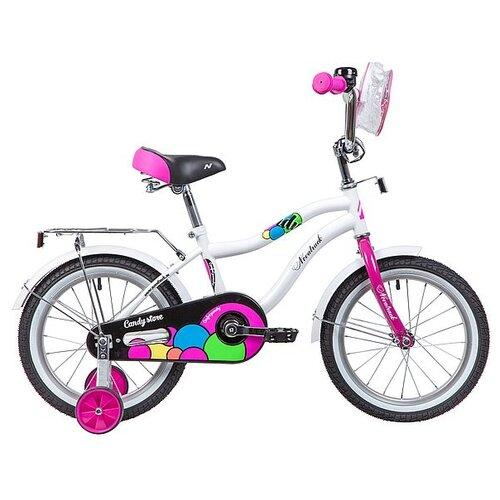 Детский велосипед Novatrack Candy 16 (2019) белый (требует финальной сборки)