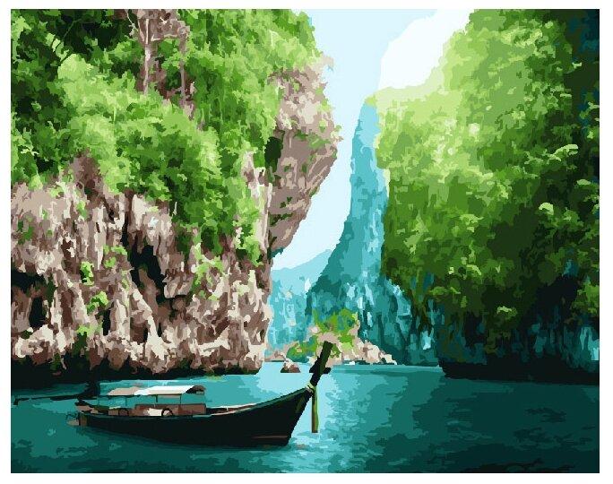 """ВанГогВоМне Картина по номерам """"Прибрежные скалы"""", 40*50см (ZX 20872)"""