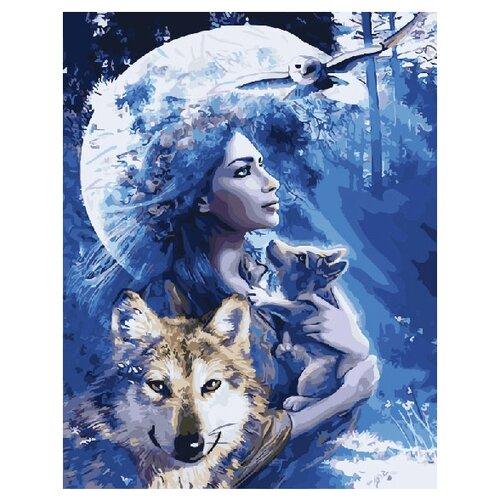 Купить ВанГогВоМне Картина по номерам Волчица , 40х50 см (ZX 20323), Картины по номерам и контурам