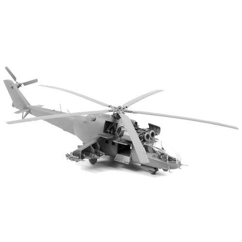 Сборная модель ZVEZDA Советский ударный вертолет Ми-24А (7273) 1:72 сборная модель zvezda российский десантно штурмовой вертолет ми 8мт 7253pn 1 72