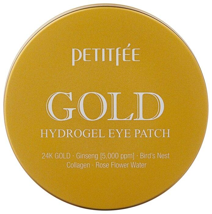 Petitfee Гидрогелевые патчи для век с содержанием частиц 24-каратного золота Gold hydrogel eye patch (60 шт.)