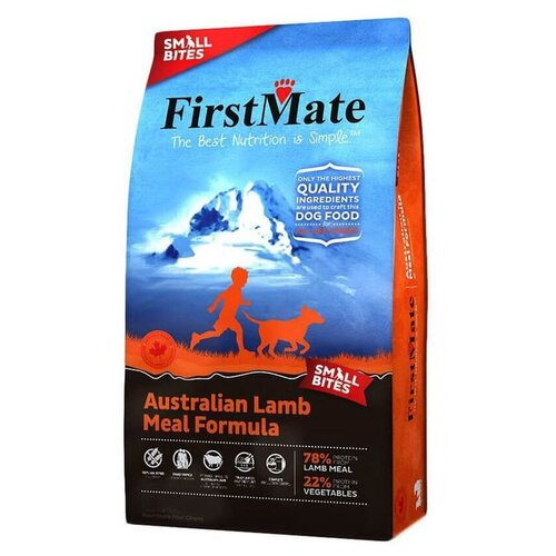 Сухой корм для собак FirstMate беззерновой, ягненок 2.3 кг (для мелких пород) firstmate firstmate australian lamb small bites сухой беззерновой корм для собак мелких пород с ягненком 2 3 кг