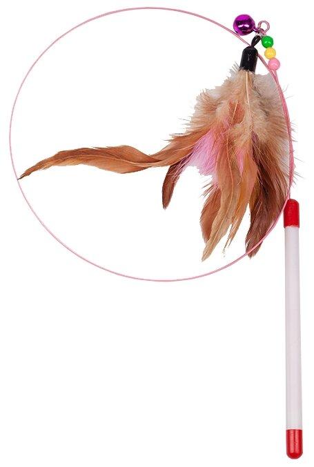 Дразнилка для кошек Грызлик Ам Лассо с перьями (41.GR.022)