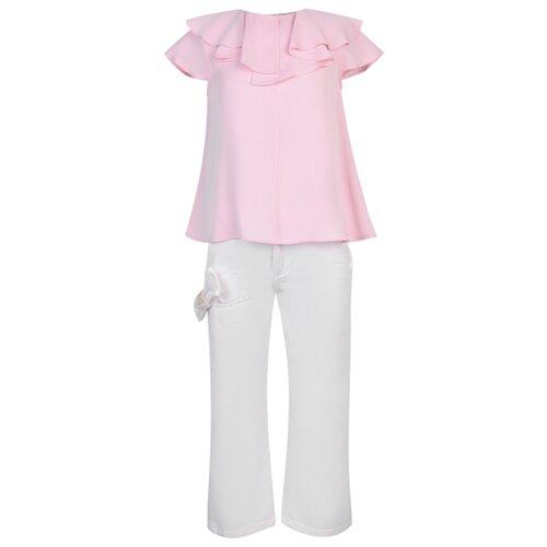 Купить Комплект одежды Simonetta размер 128, белый/розовый, Комплекты и форма
