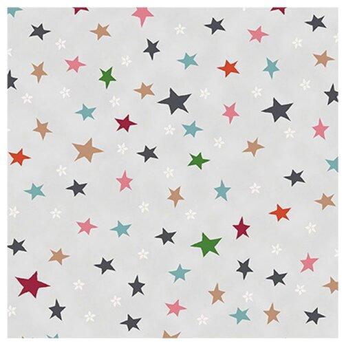 Ткань STOF PEPPY (P - W) для пэчворка 4497 фасовка 50 x 55 см 146±5 г/кв.м Звезды 030