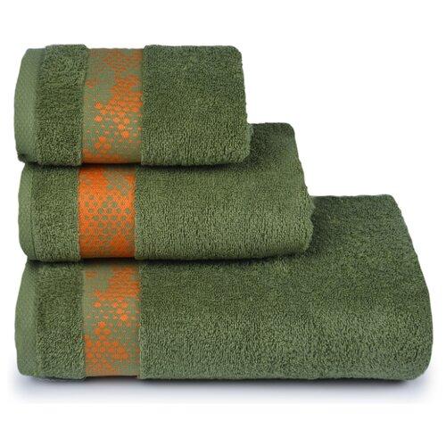 Полотенце махровое ДМ-Люкс Element70x130см. цвет: тёмно-зелёный