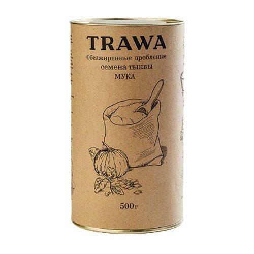 Мука Trawa из обезжиренных дробленых семян тыквы, 0.5 кгМука из других злаков<br>