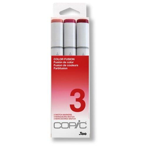 Купить COPIC набор маркеров Sketch Color Fusion 3 (H21075-653), 3 шт., Фломастеры