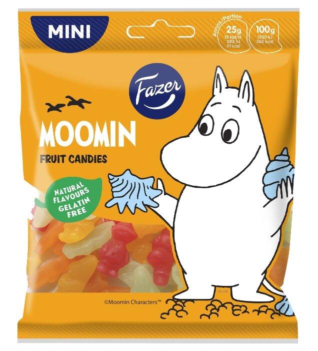 Жевательный мармелад Fazer Moomin со вкусом клубники, апельсина, груши, граната 80 г