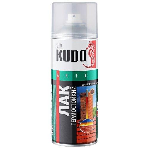 Лак KUDO термостойкий глянцевый прозрачный 520 мл