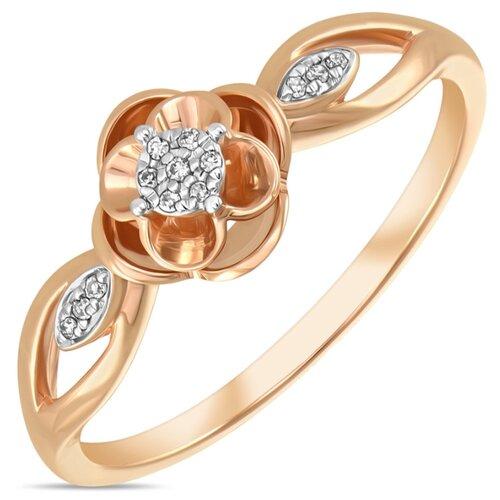 Бронницкий Ювелир Кольцо из красного золота R01-D-RR01054ADI-R17, размер 17 бронницкий ювелир кольцо из красного золота r01 d 1983089ab r17 размер 17