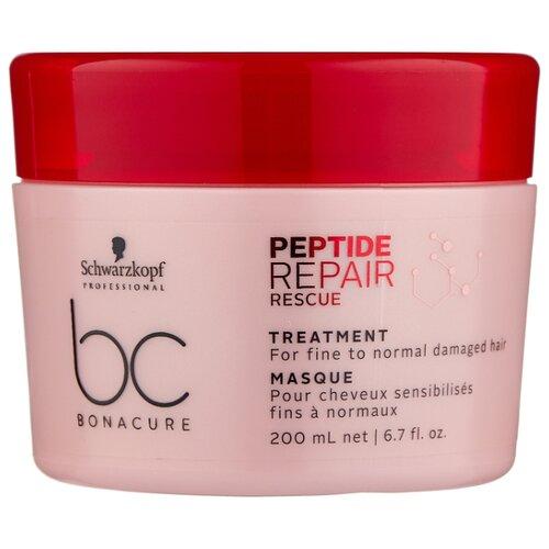 Фото - BC Bonacure Peptide Repair Rescue Маска для поврежденных волос, 200 мл bc bonacure keratin smooth perfect маска для гладкости волос 750 мл