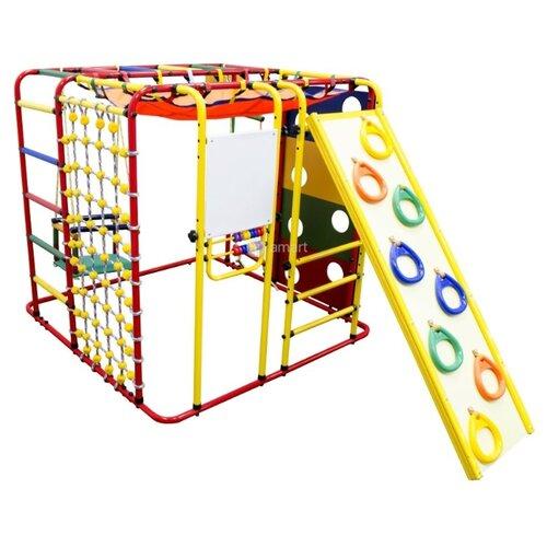 Купить Спортивно-игровой комплекс Формула здоровья Кубик-У Плюс красный/радуга, Игровые и спортивные комплексы и горки