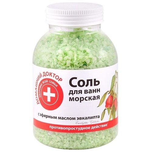 Домашний доктор Соль для ванн с экстрактом эвкалипта , 1 кг