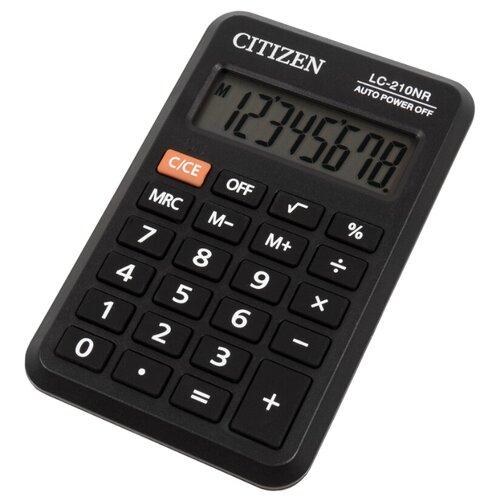 Калькулятор карманный CITIZEN LC-210NR черный