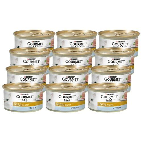 Корм для кошек Gourmet (0.085 кг) 12 шт. Gold Паштет с тунцомКорма для кошек<br>