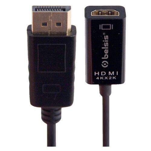 Кабель belsis DisplayPort - HDMI (BW8802) 0.2 м черный кабель mini displayport hdmi hama h 53220 1 5 м позолоченные контакты белый