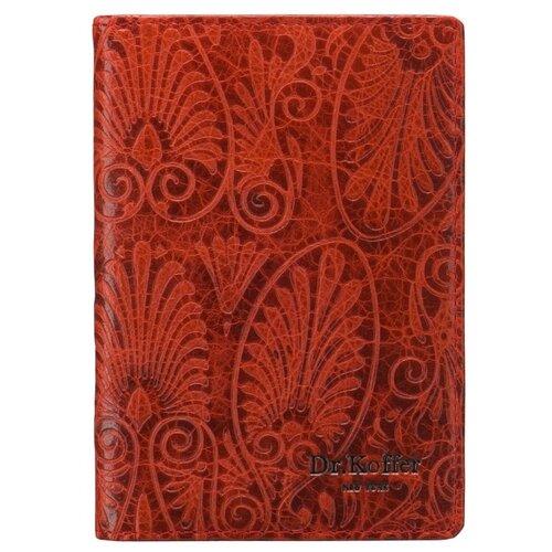 Обложка для автодокументов Dr.Koffer X510177-163-12, красный