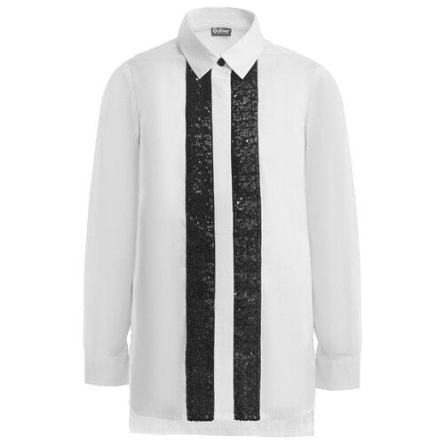 Купить Блузка Gulliver размер 164, белый, Рубашки и блузы