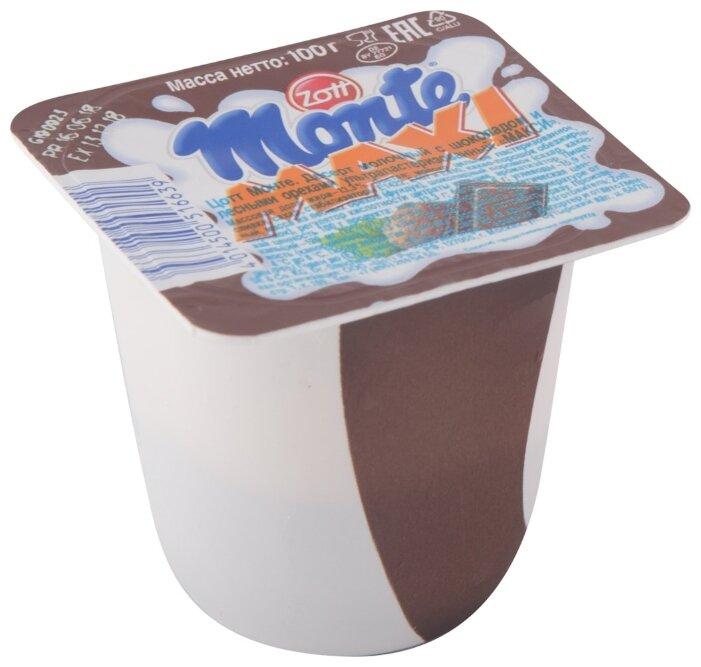 Десерт Monte maxi Молочный с шоколадом и лесными орехами 13.3%, 100 г