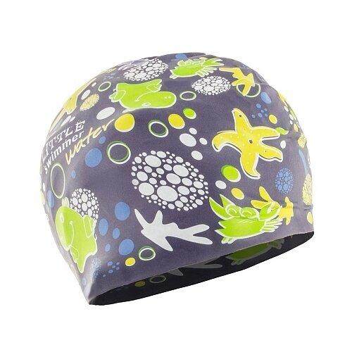 Шапочка для плавания Larsen LSC12 фиолетовый с принтом шапочка для плавания nabaiji шапочка для плавания тканевая с принтом размер l черно–зеленая