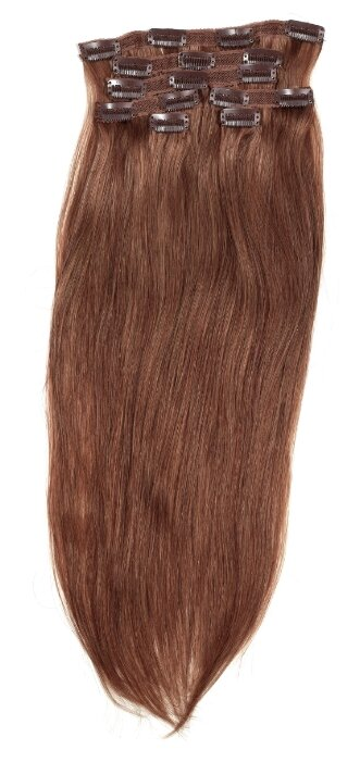 Пряди натуральные волосы на заколках №1 Все в твоих руках 50 см