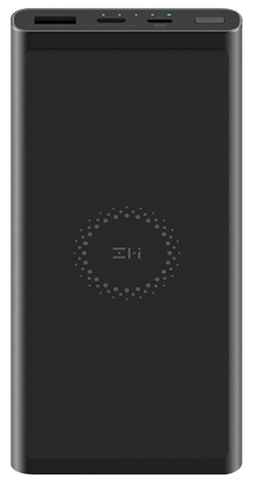 Купить Внешний аккумулятор с поддержкой беспроводной зарядки Power Bank Xiaomi ZMI 10000 mAh (WPB100) по низкой цене с доставкой из Яндекс.Маркета