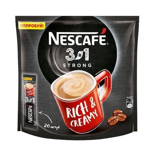 Растворимый кофе Nescafe 3 в 1 крепкий, в стиках (20 шт.)
