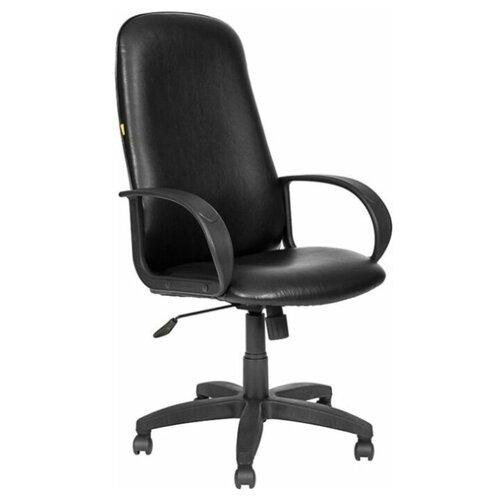 цена на Компьютерное кресло МЕБЕЛЬТОРГ Амбасадор ULTRA для руководителя, обивка: искусственная кожа, цвет: черный