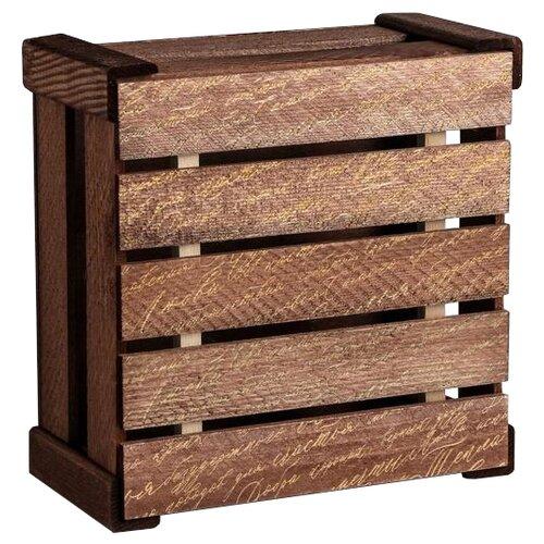 Коробка подарочная Дарите счастье Послание 20 × 10 × 20 см коричневый недорого