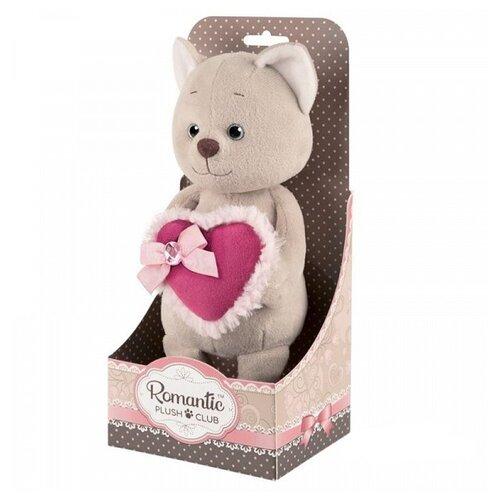 Купить Мягкая игрушка Maxitoys Котик романтичный с розовым сердечком 20 см, Мягкие игрушки