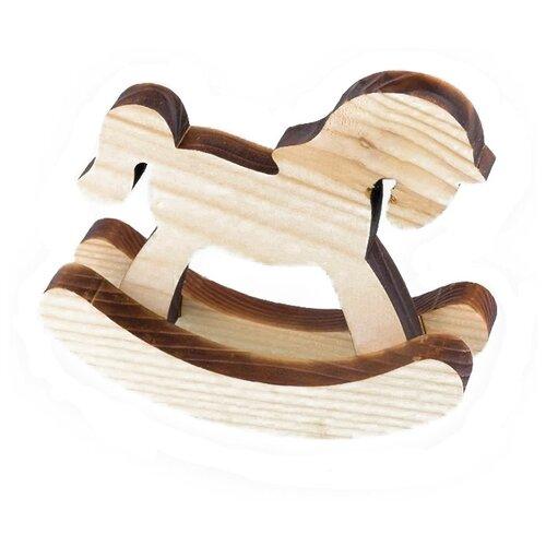 Купить Mr. Carving Заготовка для декорирования Лошадка-качалка ВД-359 бежевый/коричневый, Декоративные элементы и материалы