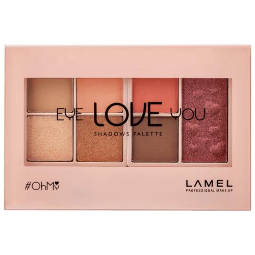 Lamel Professional Палетка теней Oh My Eye Love You 402 lamel professional oh my stamp liner with stamp star