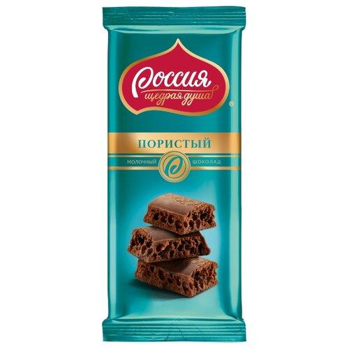шоколад россия щедрая душа молочный белый пористый 82 г Шоколад Россия - Щедрая душа! молочный пористый, 82 г