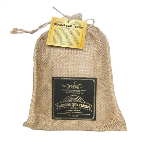 Grosheff Морская соль-гейзер с какао маслом, мятой и корицей, 1 кг