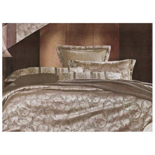 Постельное белье евростандарт Boris PS-19-200/5 полисатин коричневыйКомплекты<br>