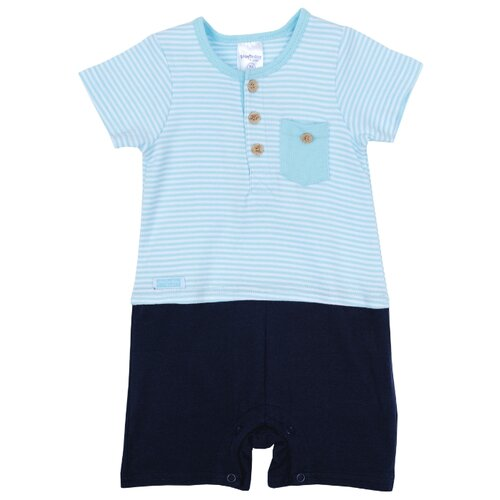Купить Песочник playToday размер 68, голубой/темно-синий, Боди