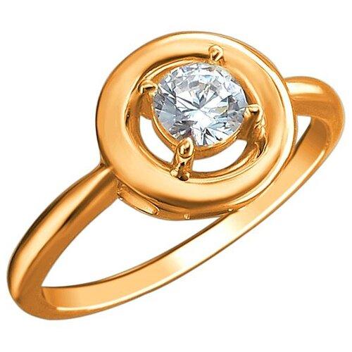 Эстет Кольцо с 1 фианитом из красного золота 01К1113029, размер 17 ЭСТЕТ