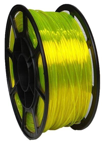 PETG пруток НИТ 1.75 мм желто-прозрачный флуоресцентный