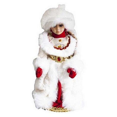 Фигурка Flatel декоративная музыкальная Снегурочка, 40 см белый/красный