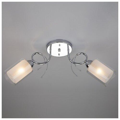 Потолочный светильник Eurosvet 30122/2 хром потолочный светильник eurosvet 40065 2 хром