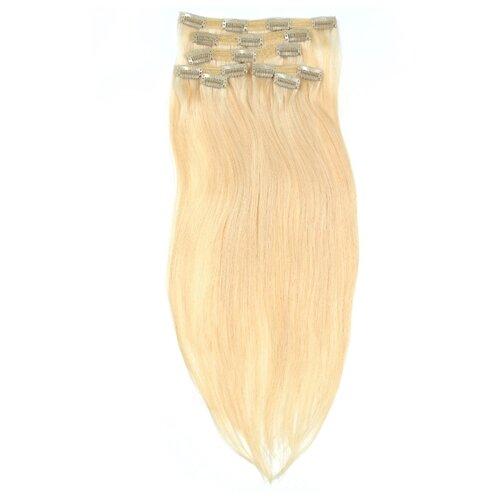 Пряди натуральные волосы на заколках №1 Все в твоих руках 50 см, платиновый блонд биссел анжела моя судьба в твоих руках