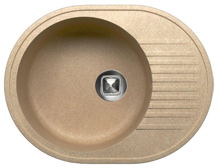 Врезная кухонная мойка Tolero R-122 57.5х46см кварцевый искусственный камень