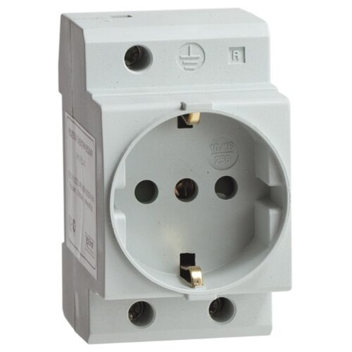Розетка EKF MDSE-47-PRO,10А, серый автомат ekf mcb47100 3 80c pro